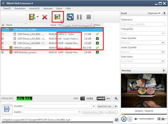 divx converter, video umwandeln