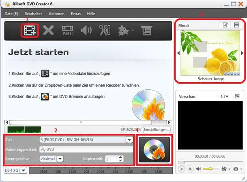 Xilisoft DVD Creator, burn AVI to DVD