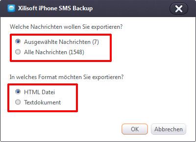 iphone sms auf computer speichern