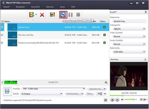 Videos auf PSP konvertieren Anleitung