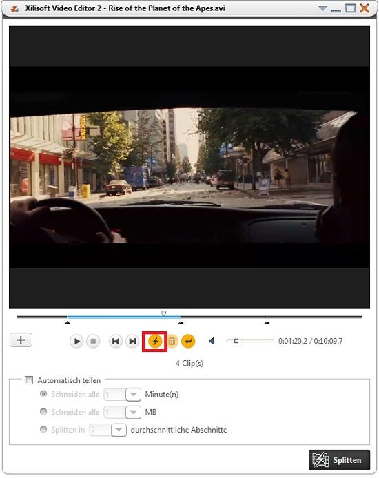 Video teilen/splitten Anleitung